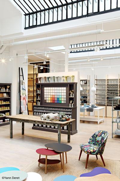 Intérieur de la boutique la Trésorerie