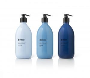 Savon de Marseille Blue Edition, 4500 exemplaires par teinte de bleu, 30 € le flacon, Compagnie de Provence. www.compagniedeprovence.com