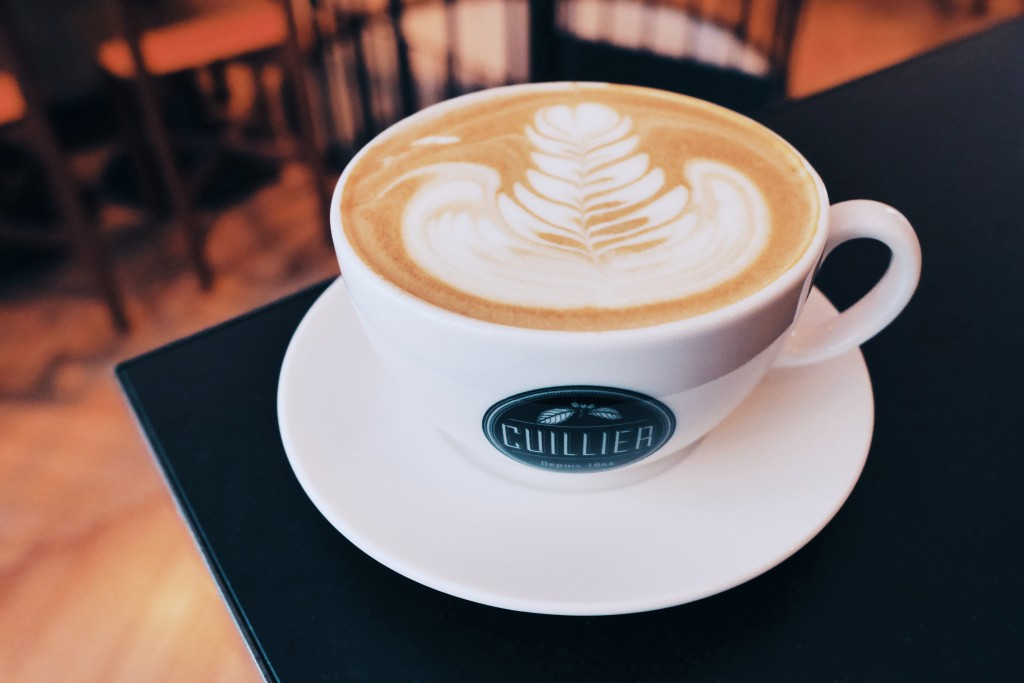 Latte Rosetta - Café Cuillier