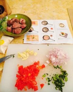 Curry d'agneau, avec recette du Comptoir des recettes, étape préparation