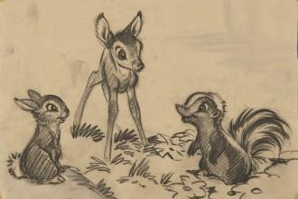 artiste_studio_disney_story-sketch_bambi_1942_disney
